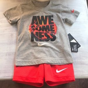 Nike toddler boys matching set 3t NEW with tags